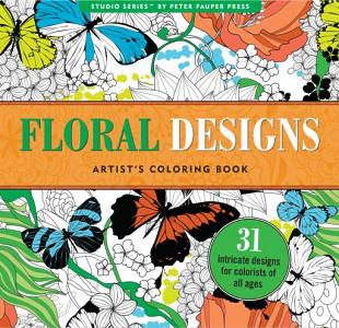 Floral Designs Adult Coloring Book