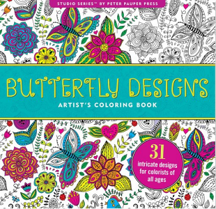 Butterfly Designs Adult Colouring Book