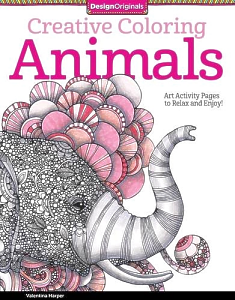 Inside Are 30 Ready To Color Art Activities That Will Transport You A Dream World Of Delightful Animals From Owls And Elephants Peacocks